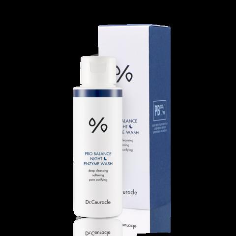Dr.Ceuracle Pro Balance Night Enzyme Wash Энзимная пудра с древесным углём для жирной кожи