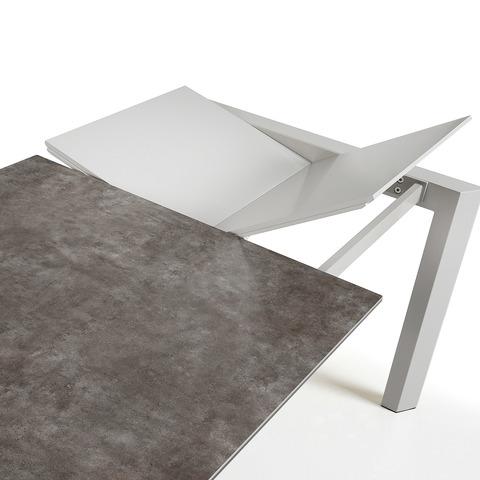 Стол Atta 120 (180) x80 серый керамика
