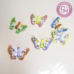 Бабочки декоративные на прищепке росписная 6 см.