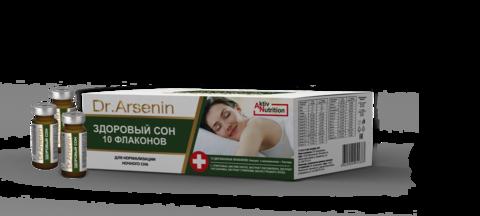 Концентрированный пищевой продукт серии Active nutrition ЗДОРОВЫЙ СОН Dr. Arsenin 10 флаконов по 10 мл НИИ Натуротерапии