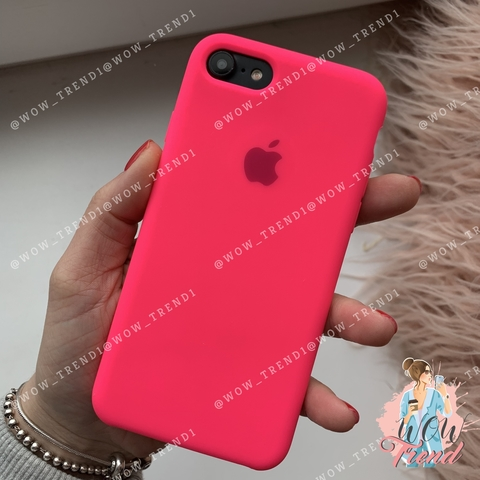 Чехол iPhone 7/8 Silicone Case /electric pink/ ярко-розовый 1:1