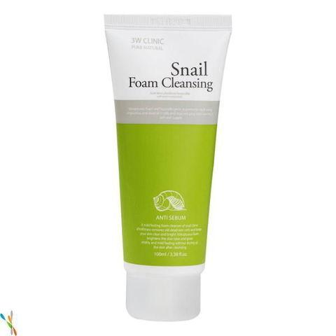 Пенка для умывания УЛИТОЧНЫЙ МУЦИН Snail Foam Cleansing, 100 мл 3W CLINIC