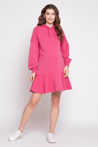 Платье для беременных и кормящих 12357 фуксия