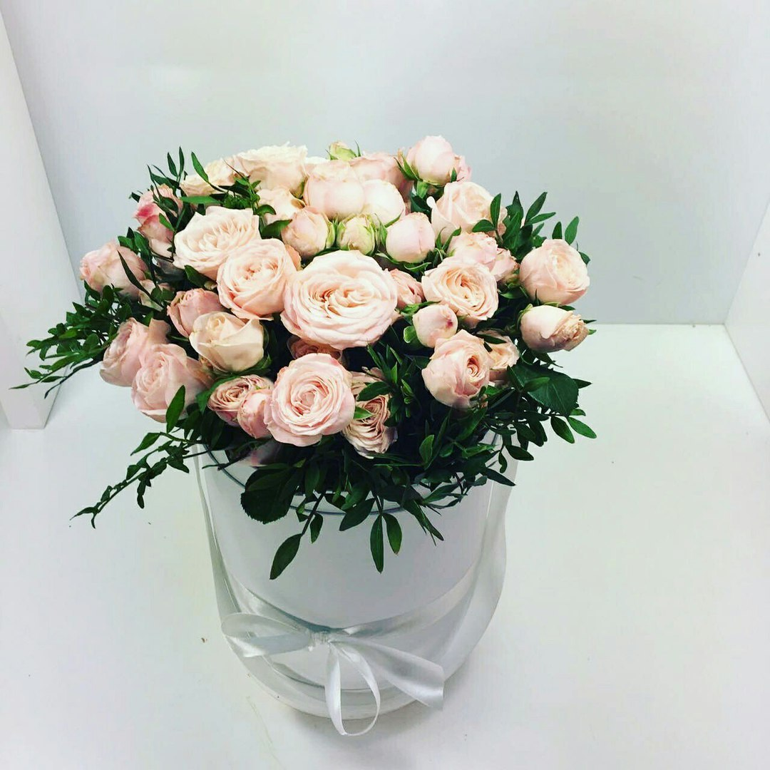 Шляпная коробка D 16 см .Цвет: белый. Розница 400 рублей.