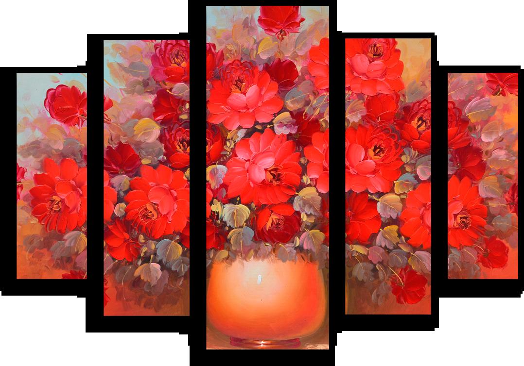 """Цветы Модульная картина """"Чарующий аромат"""" М705.png"""