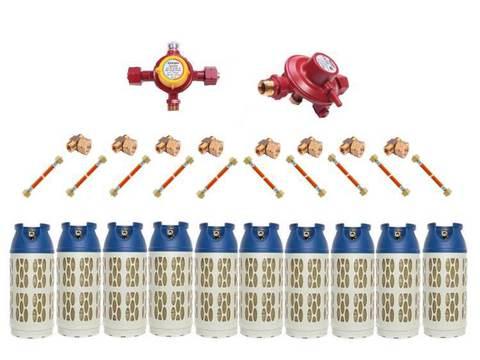 Газобаллонная система GOK (стандарт) для подключения 10 композитных баллонов