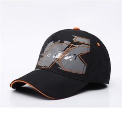 Кепка с вышитым логотипом КТМ (Бейсболка  KTM) черная
