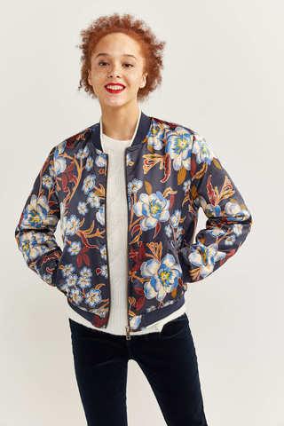 Куртка-бомбер з принтом