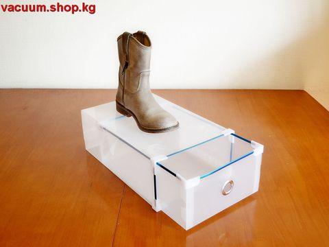 31*20*11 см пластиковая прозрачная коробка для обуви до 42 размера с выдвижным ящиком