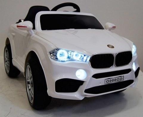 Детский электромобиль Rivertoys BMW O006OO-VIP-WHITE сиденье кожа