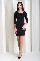 Рубина. Практичное молодежное платье. Черный