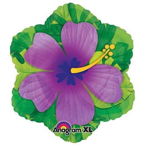 Фольгированный шар Гибискус фиолетовый