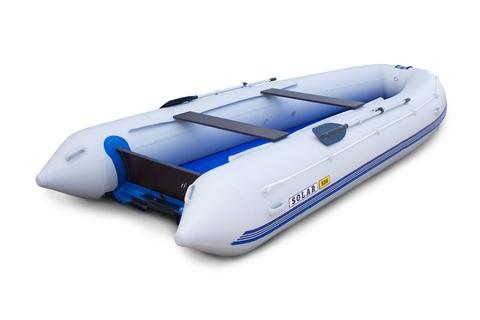 Надувная ПВХ-лодка Солар - 520 Strela Jet Tunnel (светло-серый)
