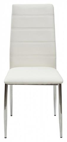 Стул DESERT 603 белый #601B-10, экокожа М-City (обеденный, кухонный, для гостиной), Материал каркаса: Металл, Цвет каркаса: Хром, Материал сиденья: Экокожа, Цвет сиденья: Белый, Цвет: Белый