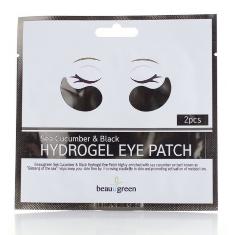 Патчи для глаз Beauugreen Sea Cucumber &Black Hydrogel Eye Patch, 1 шт