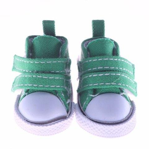 Взуття для ляльки Let's make Кеди на липучці зелені