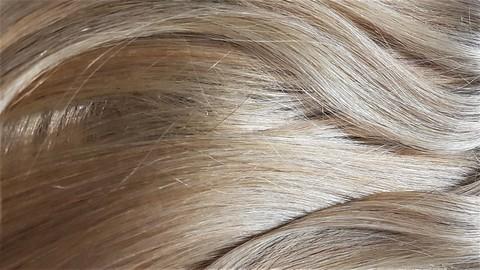 светлое  сомбре на блонд волосах
