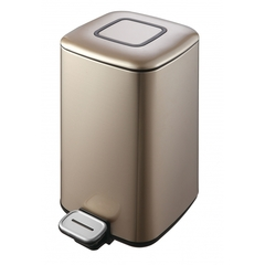 Ведро для мусора WeltWasser WW MILA CG 12L шампань золото