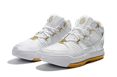 Nike Zoom LeBron 3 'White/Gold'