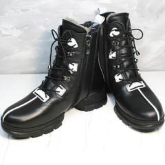 Женские ботинки зима Ripka 3481 Black-White.