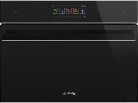 Компактный духовой шкаф Smeg SF4606WVCPNX комбинированный с пароваркой