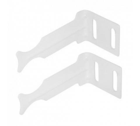 Global кронштейн угловой белый для радиатора (22945)