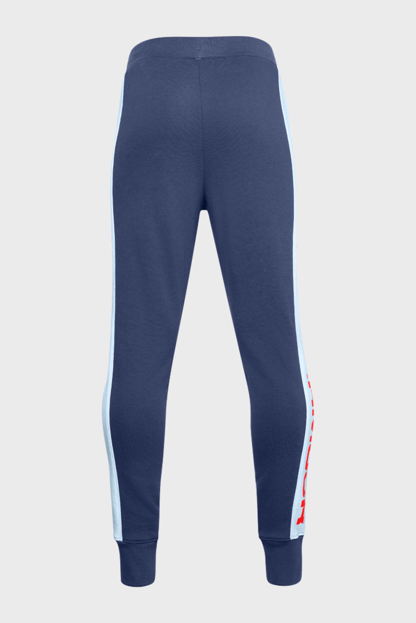 Детские синие спортивные брюки Rival Terry Under Armour