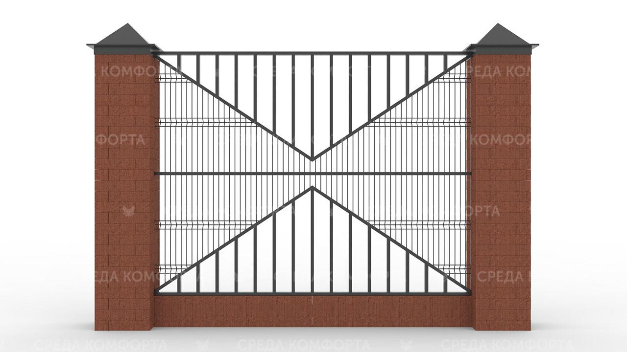 Забор 3Д ZBR0089