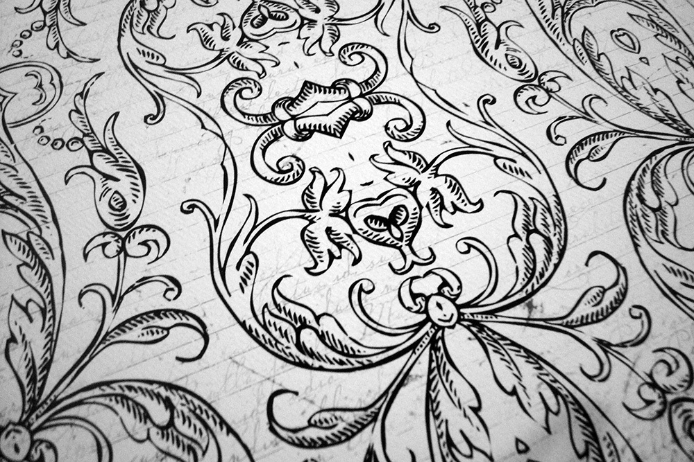 Бумага для скрапбукинга Vintage Scrollwork