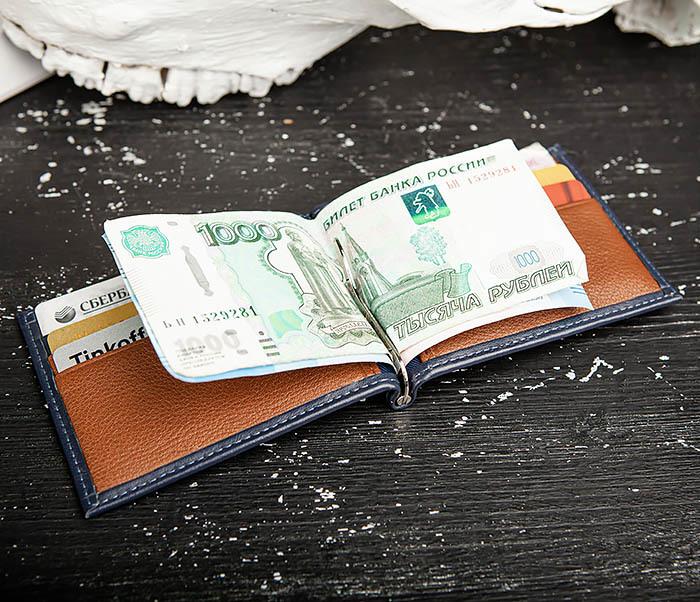 WL322-3 Кожаный зажим для купюр и карточек из кожи, «Moriz» фото 08