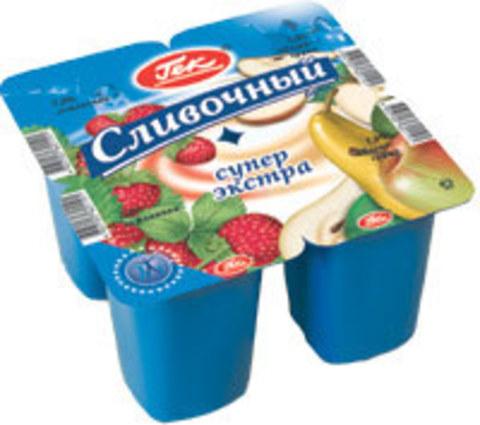 Йогурт Гек сливочный  бриз 4,7% 100гр малина/клубника Эрман, шт