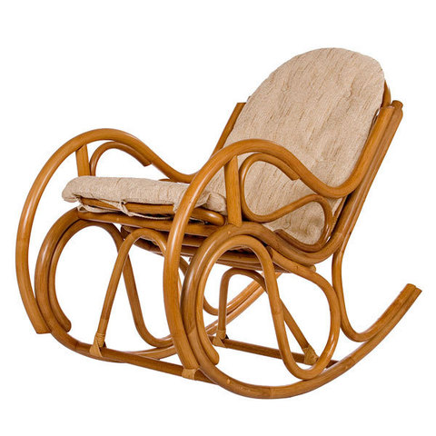 Кресло-качалка с подушкой Bella (004.039) коньячный