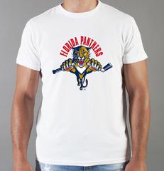 Футболка с принтом НХЛ Флорида Пантерз (NHL Florida Panthers) белая 005