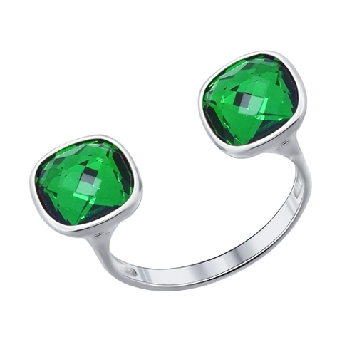 Серебряное кольцо Swarovski