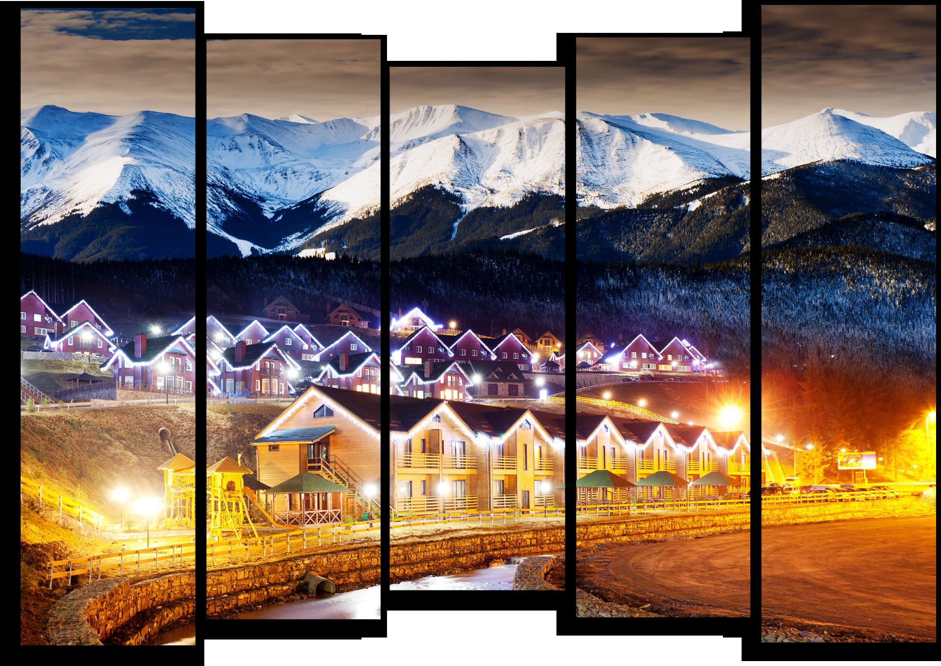 """Природа Модульная картина """"Вечер в горах"""" М389.png"""