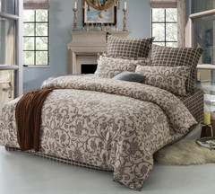 Сатиновое постельное бельё  1,5 спальное Сайлид  В-171