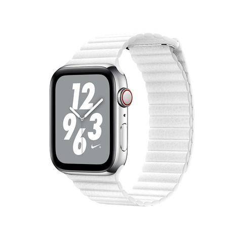 Ремешок кожаный COTEetCI W7 Leather Magnet Band (WH5206-WH) для Apple Watch 44мм/ 42мм Белый