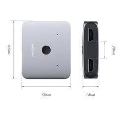 Адаптер Xiaomi Hagibis Mini HDMI Distribution Switcher Alloy HD 4K Vision