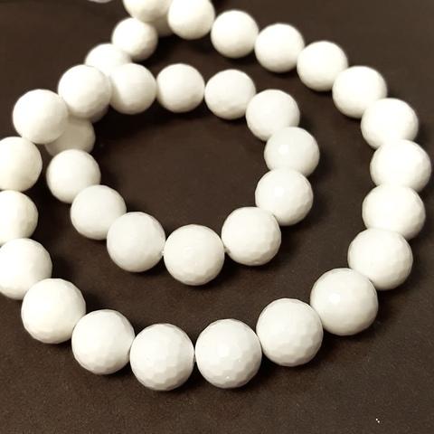 Бусины из белого агата купить в интернет магазине Сантрим