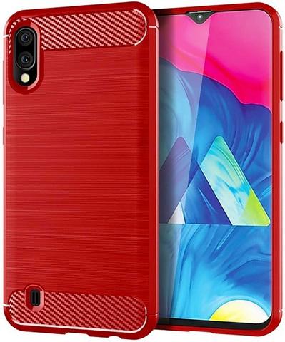 Чехол Carbon для Samsung Galaxy A10/M10 серия Карбон | красный