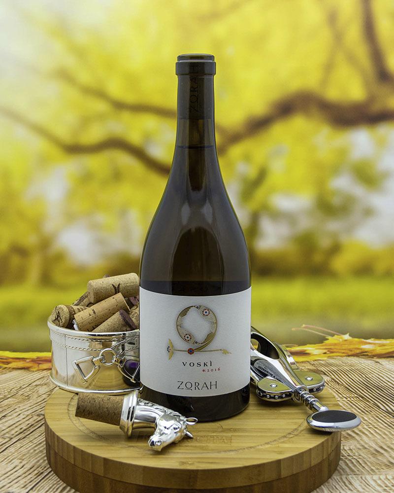 Вино Zorah Воски Белое Сухое 2016 г.у. 13,5% 0,75 л.
