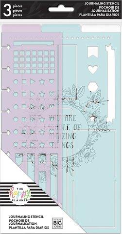 Трафареты и разделительная закладка для планера -Happy Planner Journaling Stencils by Me & My Big Ideas- 3 шт