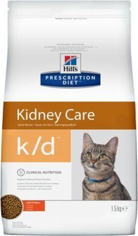 9186  ХИЛЛc ДИЕТА сух.д/кошек K/D лечение заболеваний почек, МКБ (оксалаты, ураты) 1,5кг*6