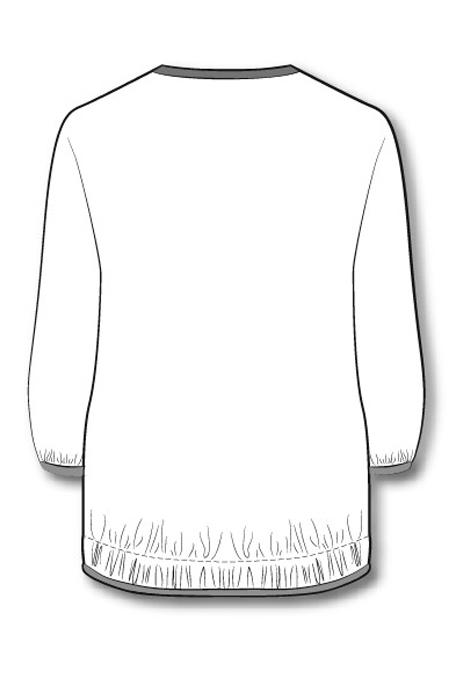 Лекала блузы с рукавом ¾