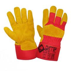Перчатки рабочие трикотажные Диггер спилковые комбинированные утепленные