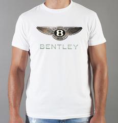 Футболка с принтом Бентли (Bentley) белая 002