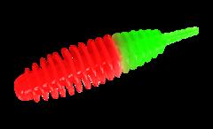 Силиконовые приманки Trout Bait Jumbo 50 (50 мм, цвет: Красно-зелёный, запах: сыр, банка 12 шт.)