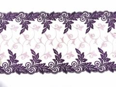 Вышивка на сетке, 23 см, фиолетовая, (Арт: VS-1014), м