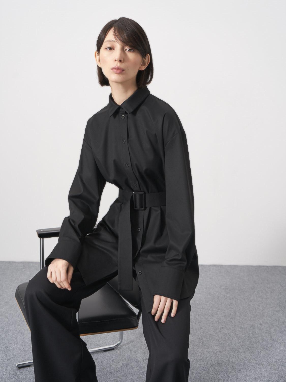 Рубашка Anna удлиненная с поясом