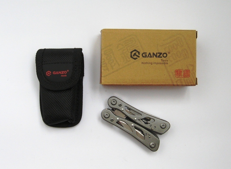 Мультитул Ganzo G104S, 72 мм, 11 функций, нейлоновый чехол